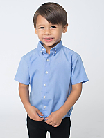 Kids Short Sleeve Button-Down