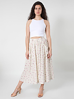 Rayon Button Up Long Skirt