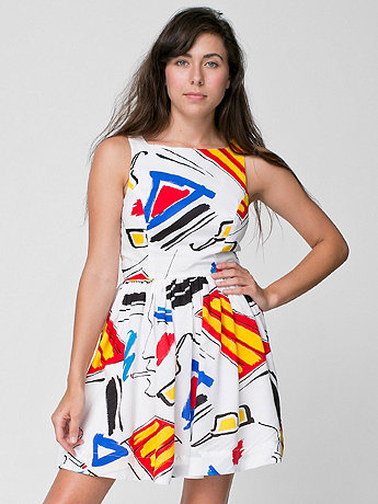 Printed Rayon Sun Dress