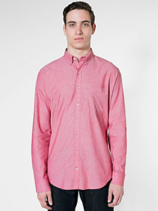 Chambray Long Sleeve Button-Down