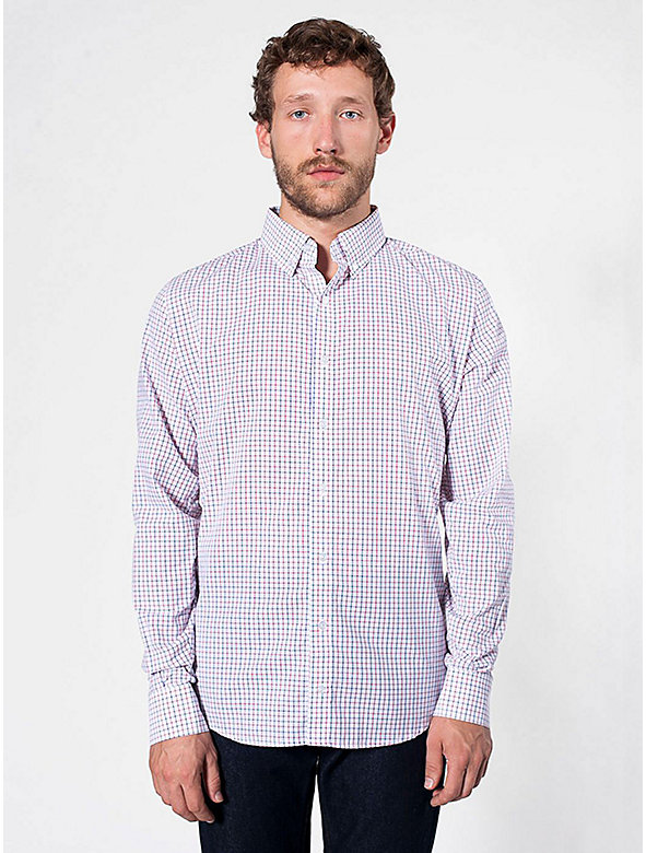 Gingham Long Sleeve Button-Down