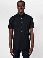 Poplin Short Sleeve Button-Down with Pocket