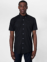 Poplin Short Sleeve Button-Down with Pocket