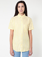 Stripe Short Sleeve Button-Down with Pocket