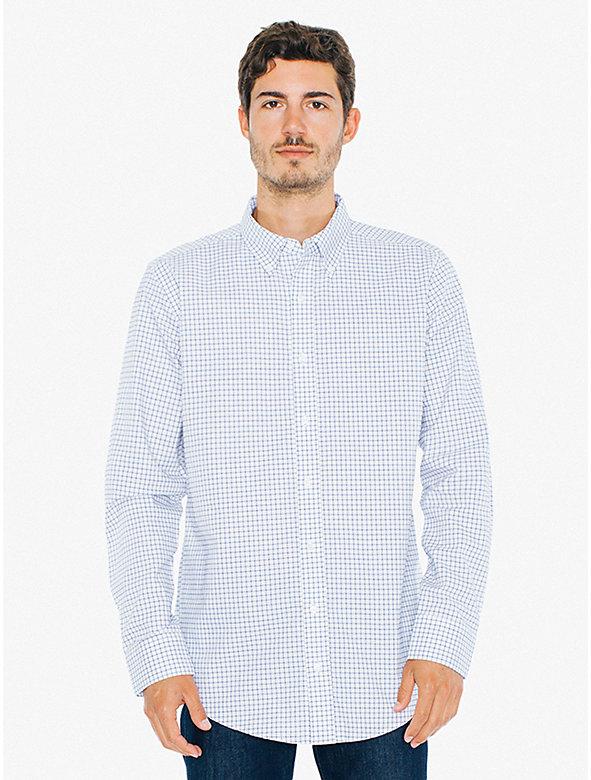 Check Stone Wash Oxford Shirt