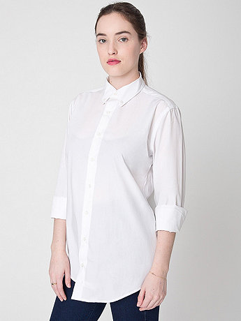 Unisex Poplin Classic Long Sleeve Button-Down