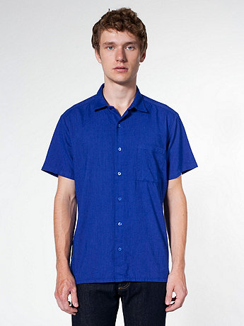 Coastal Oxford Short Sleeve Button-Up with Pocket