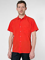 Italian Cotton Short Sleeve Button-Up with Pocket