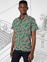 Nathalie Du Pasquier Big Kaya Grass Print Short Sleeve Casual Shirt