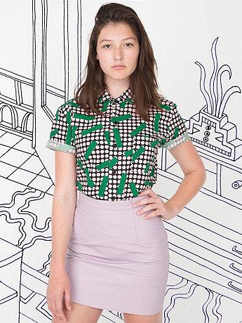 Nathalie Du Pasquier Unisex Big Kaya Grass Print Short Sleeve Casual Shirt