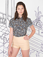 Nathalie Du Pasquier Unisex Kouki Print Short Sleeve Casual Shirt