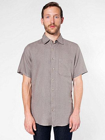 リラックスショートスリーブボタンアップシャツ