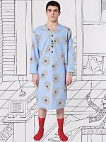 Nathalie Du Pasquier Blue Biba Print Pajama Gown