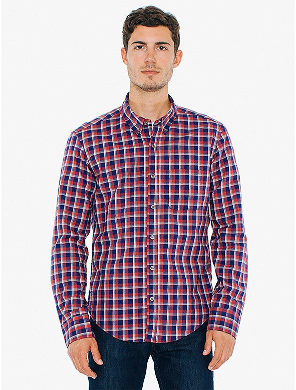 Plaid Brushed Slim Fit Shirt