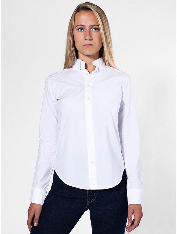 Unisex Poplin Long Sleeve Button-Down