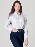 Unisex Pinpoint Oxford Long Sleeve Button-Down