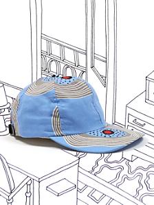 Nathalie Du Pasquier Blue Biba Print Cotton Cap