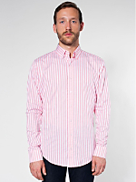 Stripe Long Sleeve Button-Down