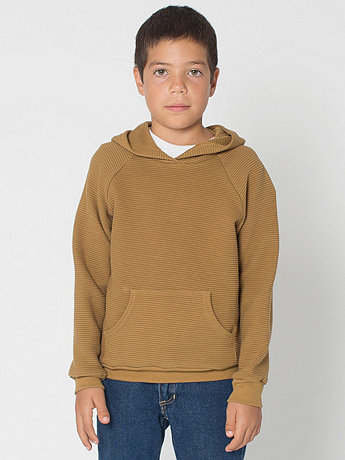 Youth Ottoman Rib Pullover Hoodie