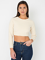 Cotton Ottoman Rib Crop Raglan