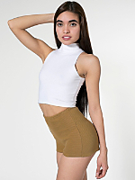 Cotton Ottoman High-Waist Hot Short