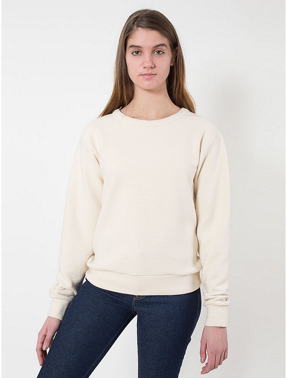 Cotton Ottoman Rib Drop-Shoulder Pullover