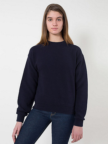Unisex Cotton Ottoman Rib Drop-Shoulder Pullover