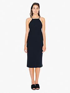 Crepe Crossback Midi Dress