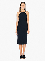Crepe Crossback Midi Dress