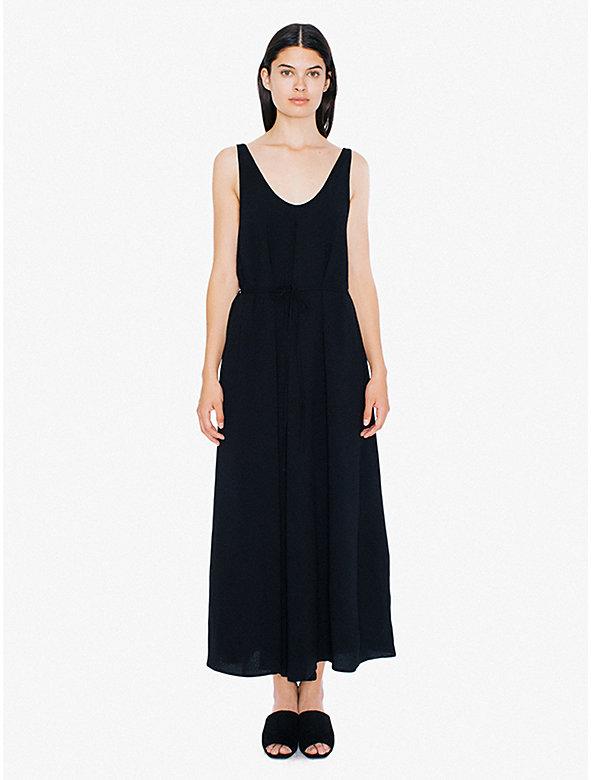 Crepe Tank Maxi Dress