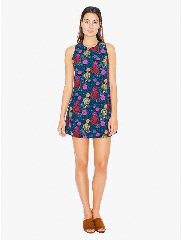 American Apparel Womens Printed Mini Dress