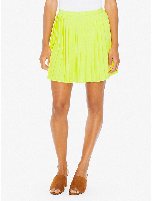 American Apparel Womens Sunburst Pleated Skirt