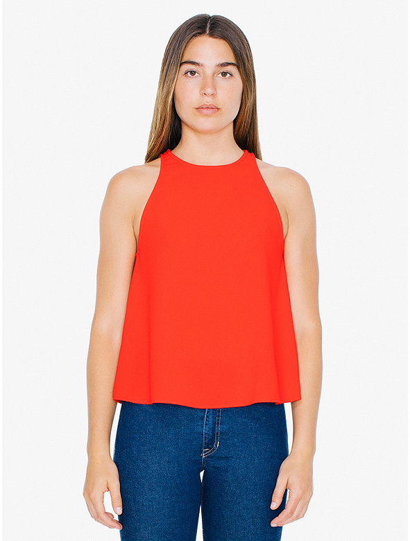 American Apparel Womens Open Back Top