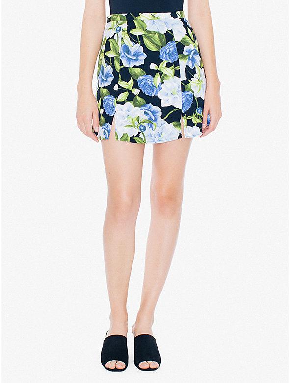 Printed Crepe Canyon Skirt