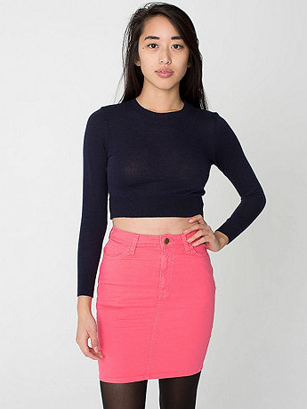 Lightweight Stretch Twill High-Waist Pencil Skirt