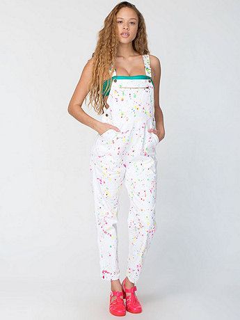 Printed Cotton Denim Overall