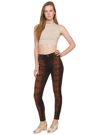 Tie Dye Stretch Twill High-Waist Side Zipper Pant