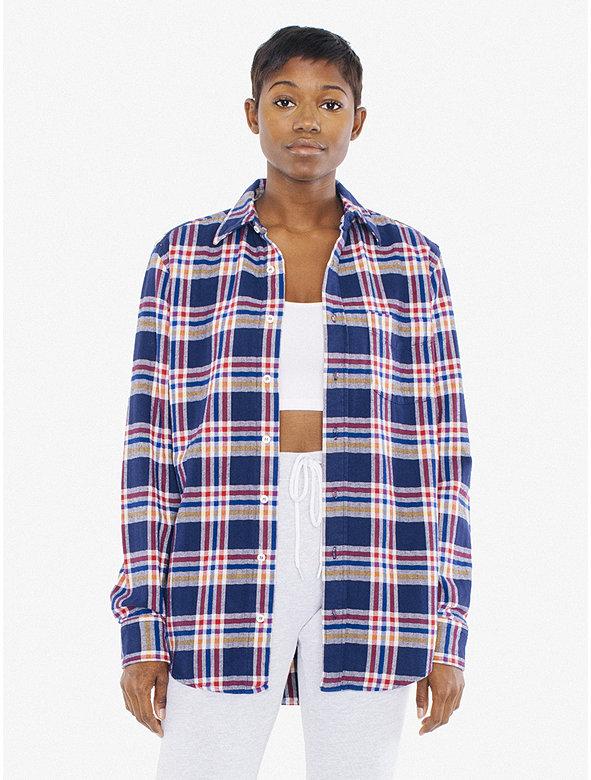 Unisex Plaid Brushed Cotton Shirt