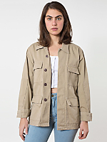 Unisex Cotton Twill Military Jacket