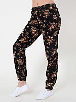Unisex Floral Print Cotton Twill Billionaire Pant