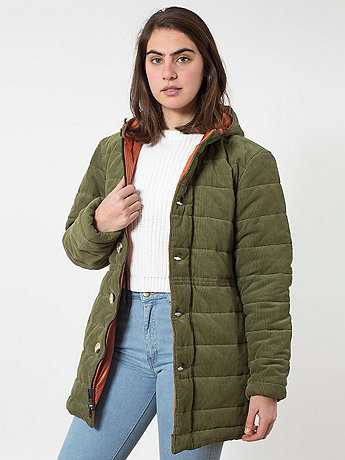 Unisex Quilted Corduroy Jacket