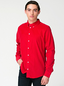 Corduroy Long Sleeve Button-Down