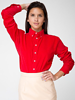 Unisex Corduroy Long Sleeve Button-Down