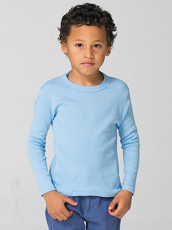 Kids Solid Rib Long Sleeve Shirt
