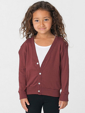 Kids' Solid Rib Cardigan