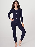 Unisex Rib Henley One-Piece