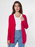 Unisex Oversized Cotton Rib Pocket Cardigan