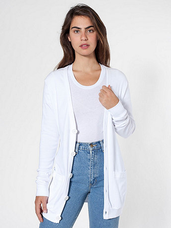 Unisex Oversized Cotton Rib Pocket Cardigan