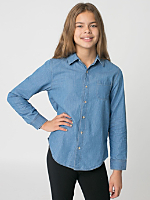 Youth Denim Long Sleeve Button-Up