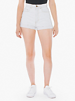 Light Wash High-Waist Jean Cuff Short